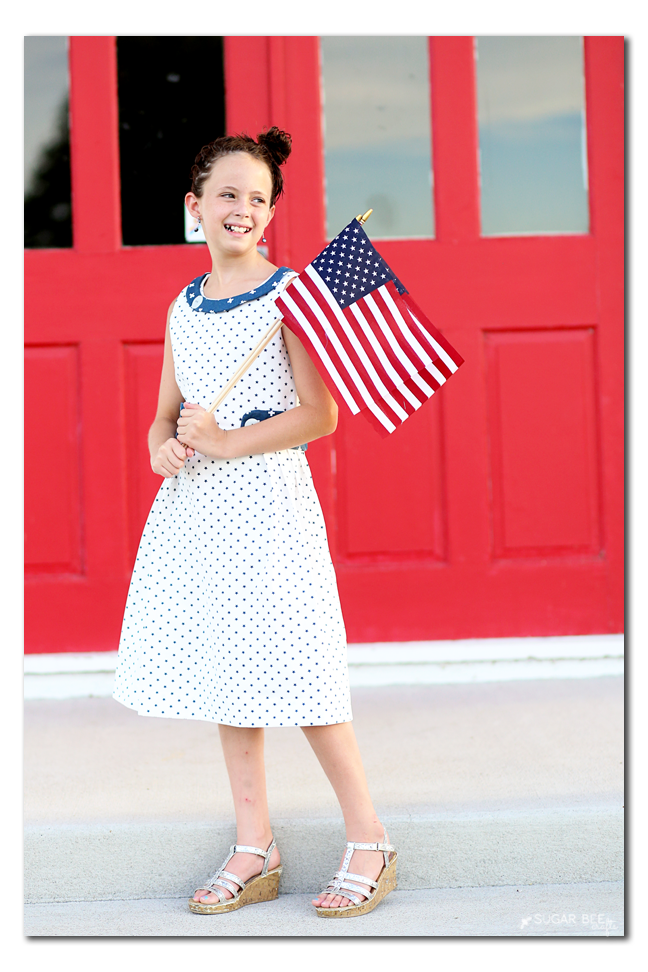 red white blue dress pattern