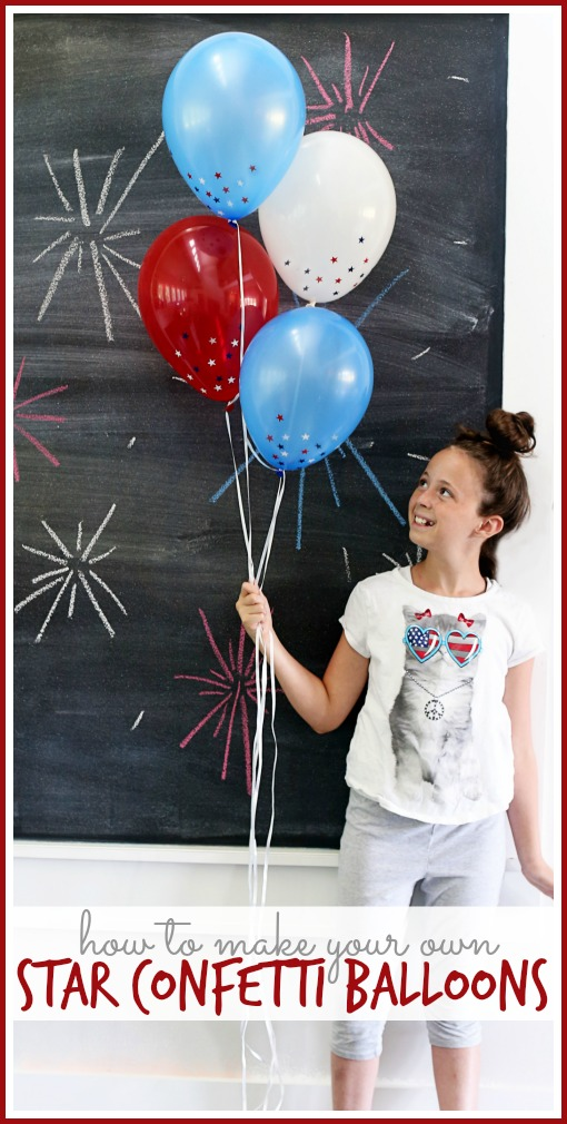 star confetti balloons how to make your own