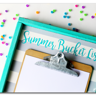 Summer bucket list board