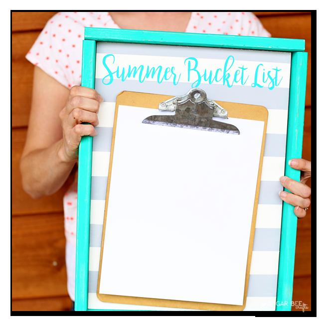 summer bucket list board blank