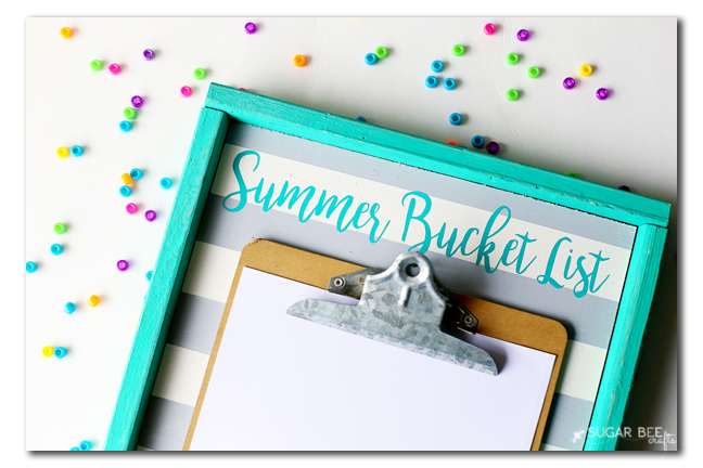 Summer Bucket List Display Board