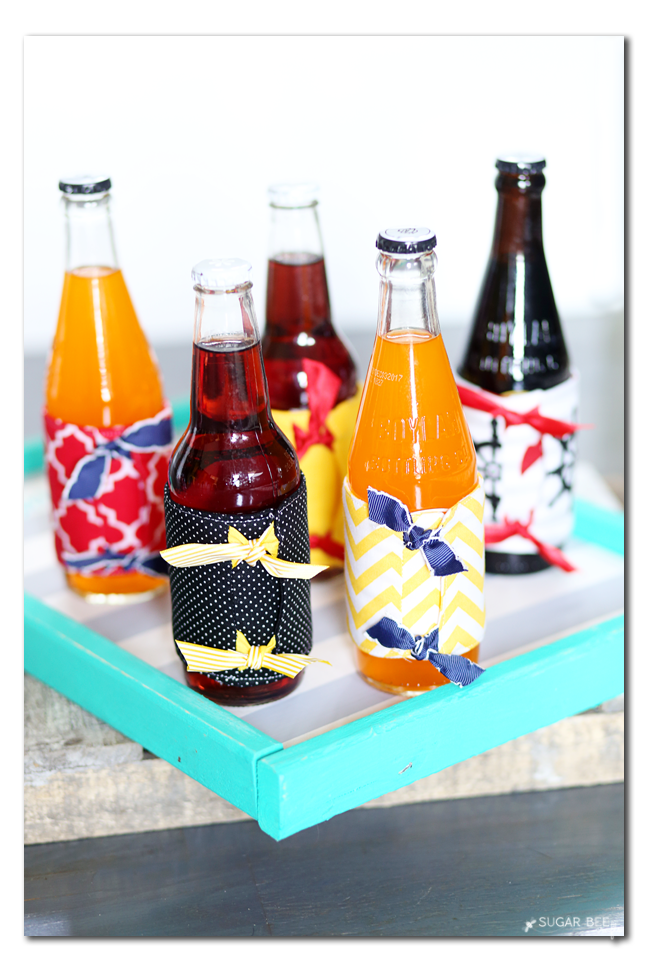 drink coozie simple sewing project idea