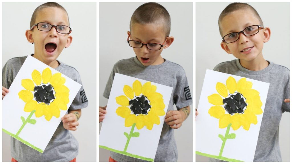 kid craft sunflower
