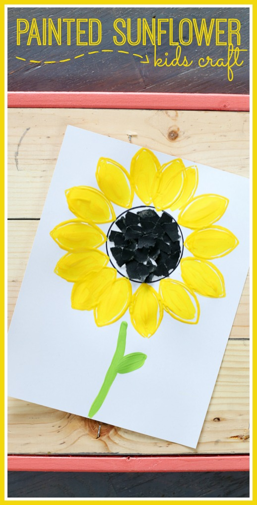 kids craft painted sunflower