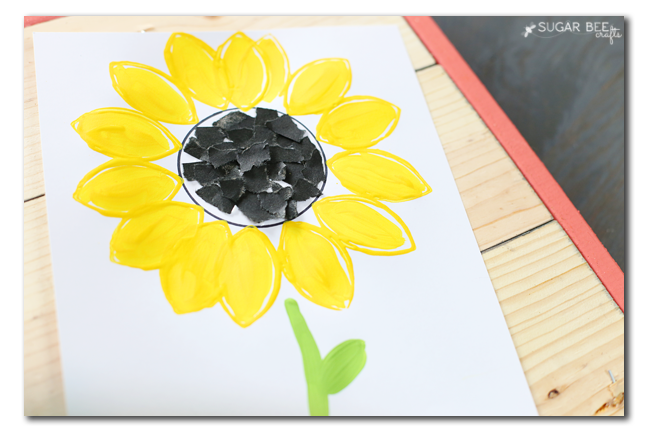 kids craft sunflower idea