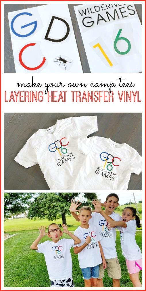 layering heat transfer vinyl tshirt layer