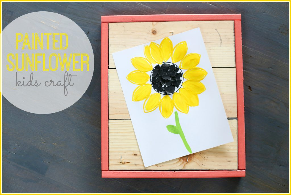 Painted Sunflower, kids craft idea