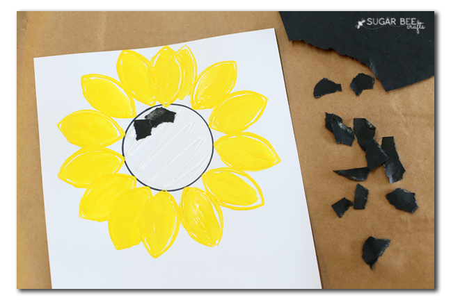 paper sunflower kids craft