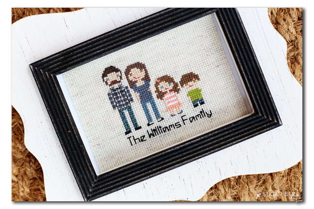 personalized cross stitch family
