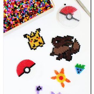 Pokemon go perler bead kids craft