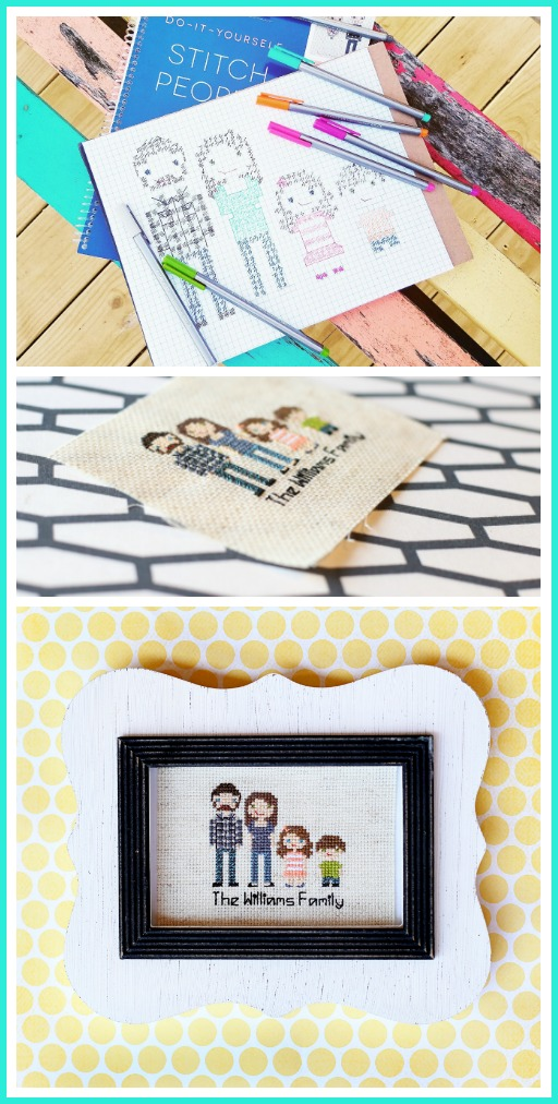 stitch people family cross stitch diy make yourself
