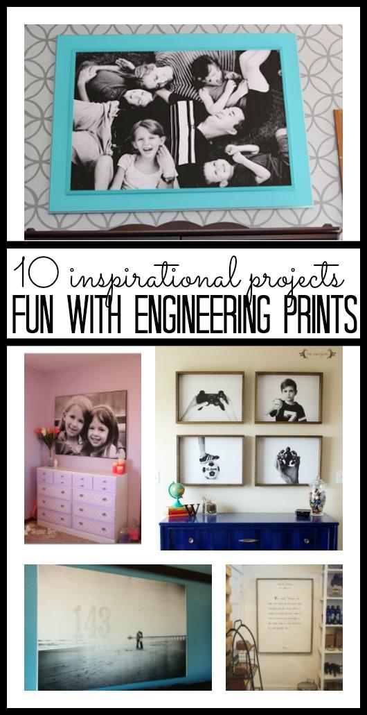 Fun with Large (Inexpensive) Engineering Print - Sugar Bee Crafts