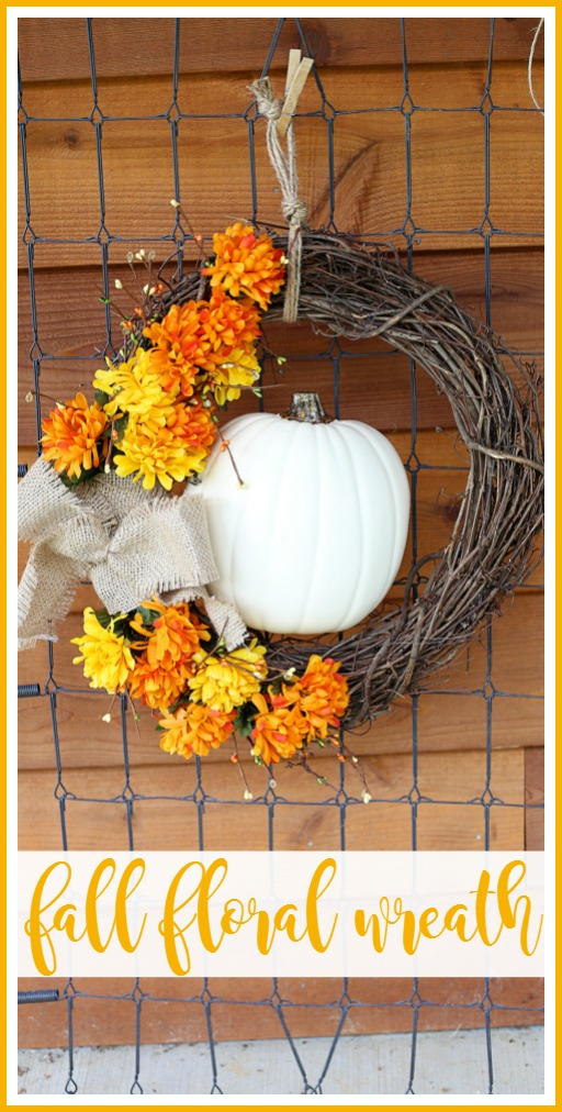 autumn fall floral wreath craft