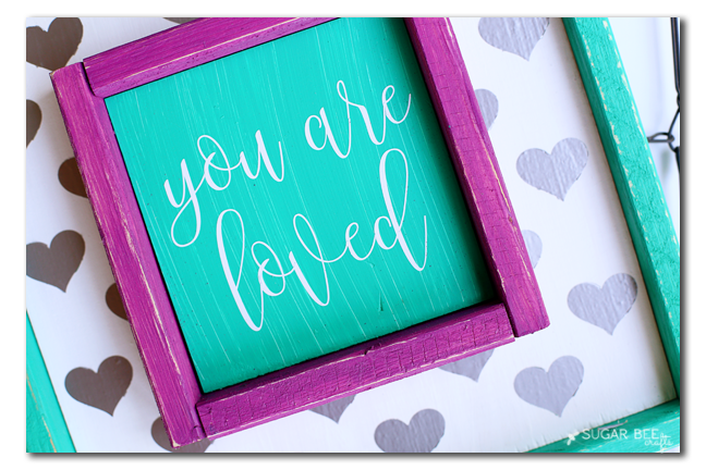 distressed frame edges diy