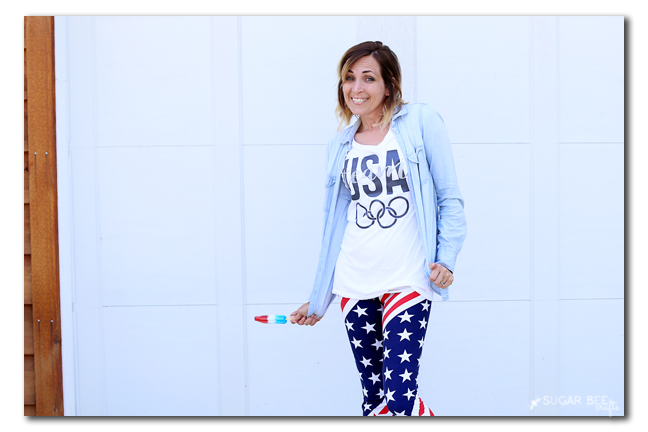 diy usa olympic tee