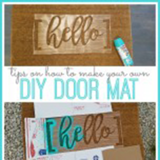 DIY Hello Door Mat