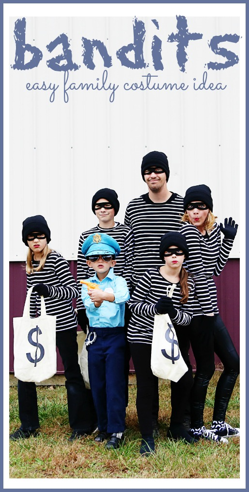 easy family halloween costume idea bandits
