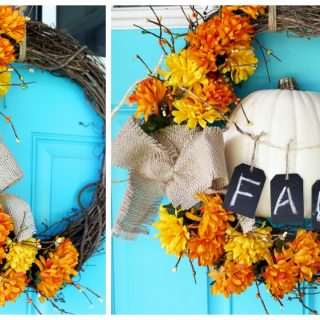 fall wreath craft idea