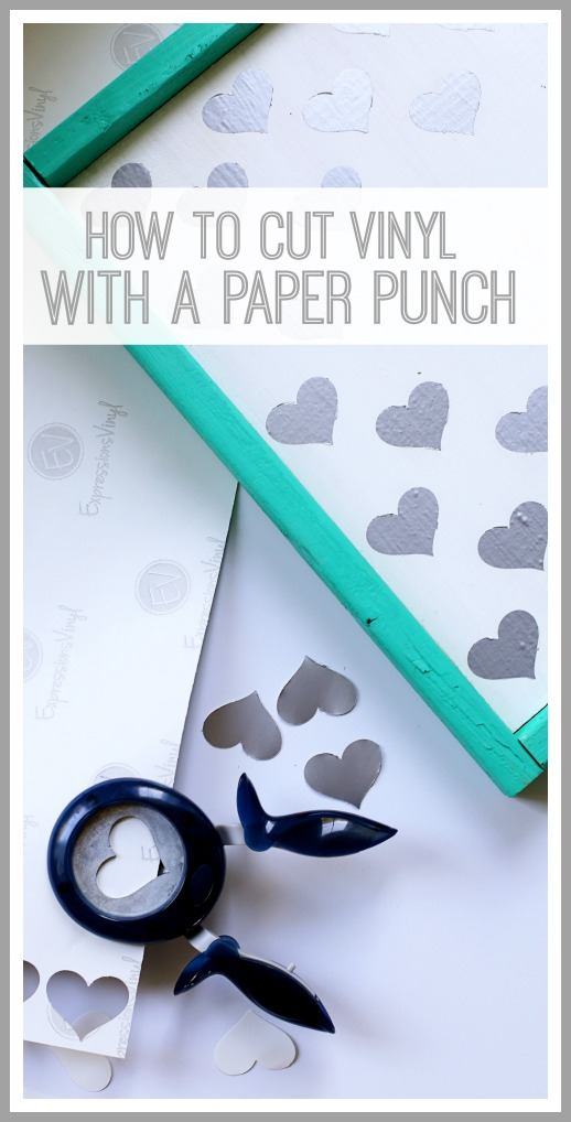 how to cut vinyl with a paper punch