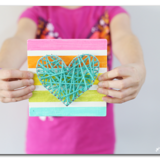 Kids craft string art