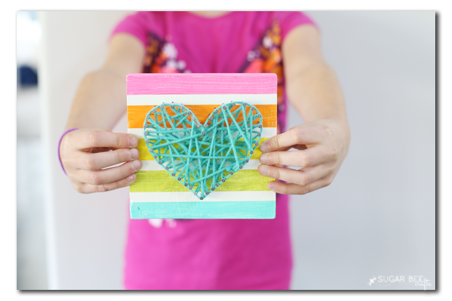 String Art Heart Kids Craft Sugar Bee Crafts