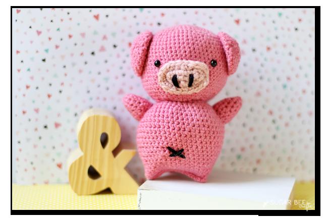 Amigurumi Pig : Crochet pig amigurumi sugar bee crafts