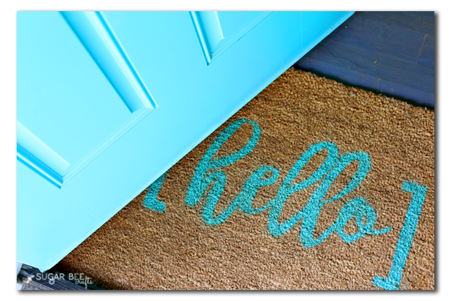 make your own custom rug stencil
