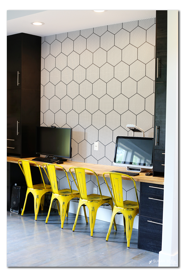 modern hexagon wallpaper diy