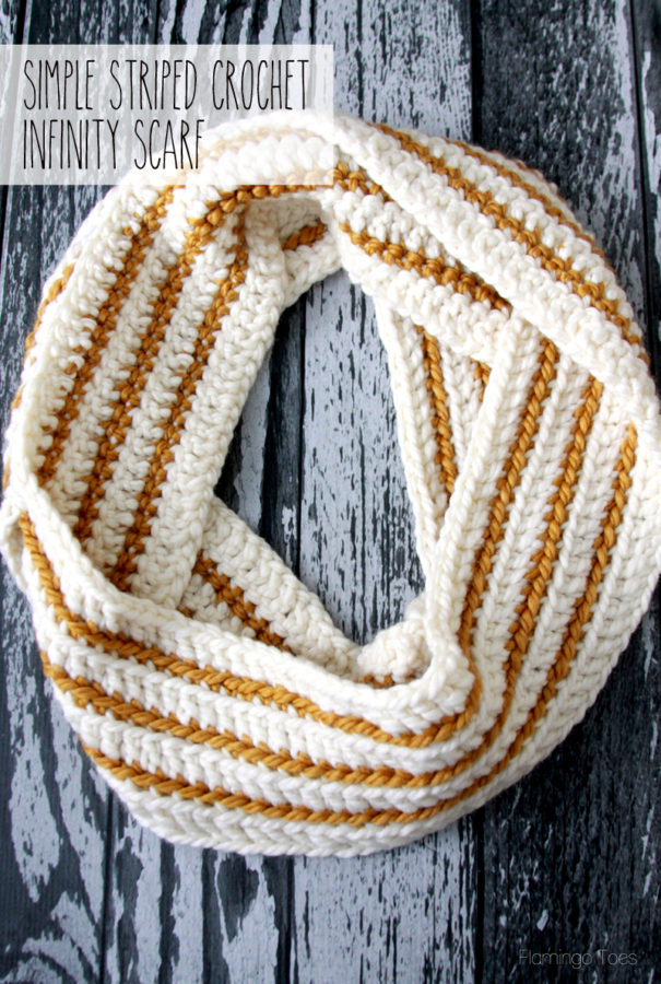 Free Crochet Pattern Striped Scarf : The Best Easy and Free Scarf Patterns - Sugar Bee Crafts