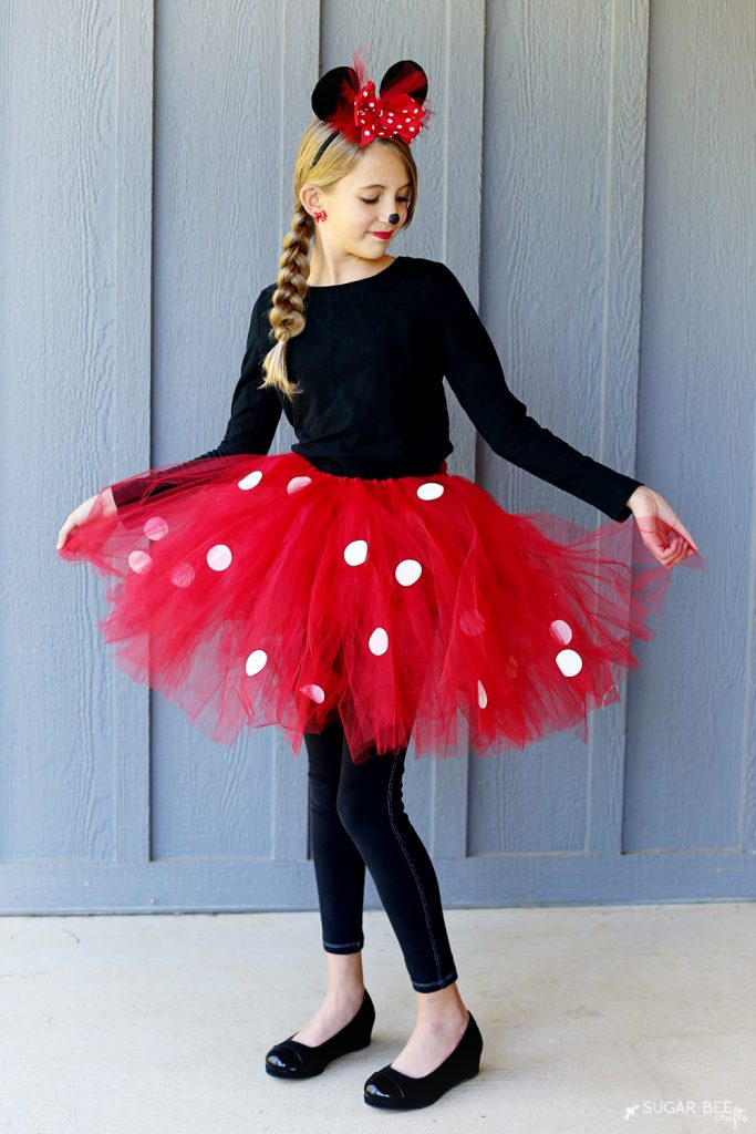 diy minnie mouse costume yep no sew sugar bee crafts. Black Bedroom Furniture Sets. Home Design Ideas