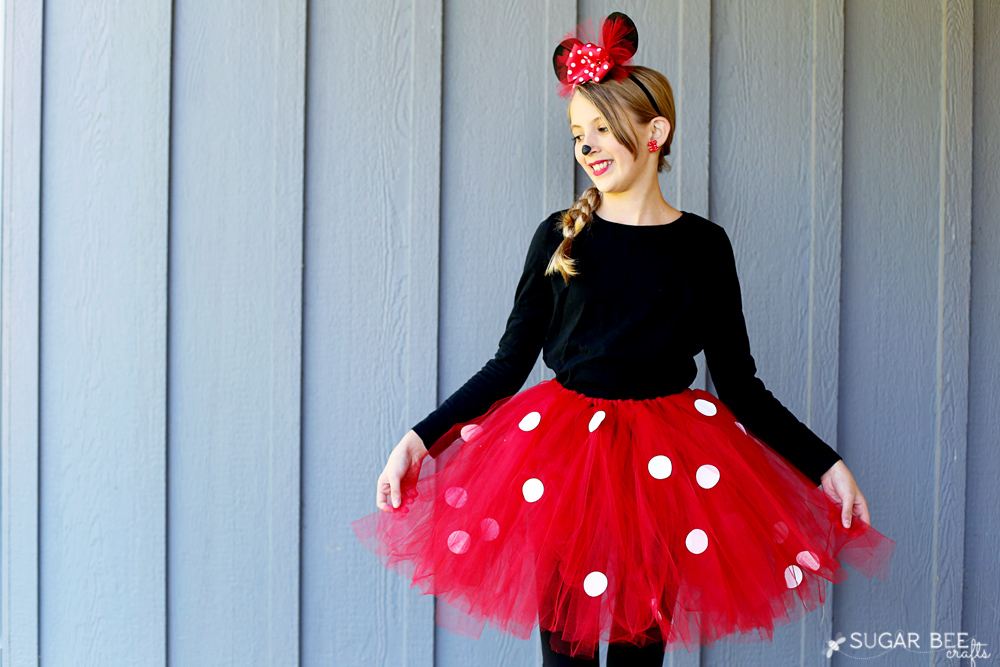 diy minnie mouse bow costume sugar bee crafts. Black Bedroom Furniture Sets. Home Design Ideas