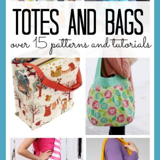 Tote bags patterns and tutorials