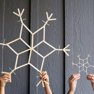 Craft stick bfg craft snowflakes