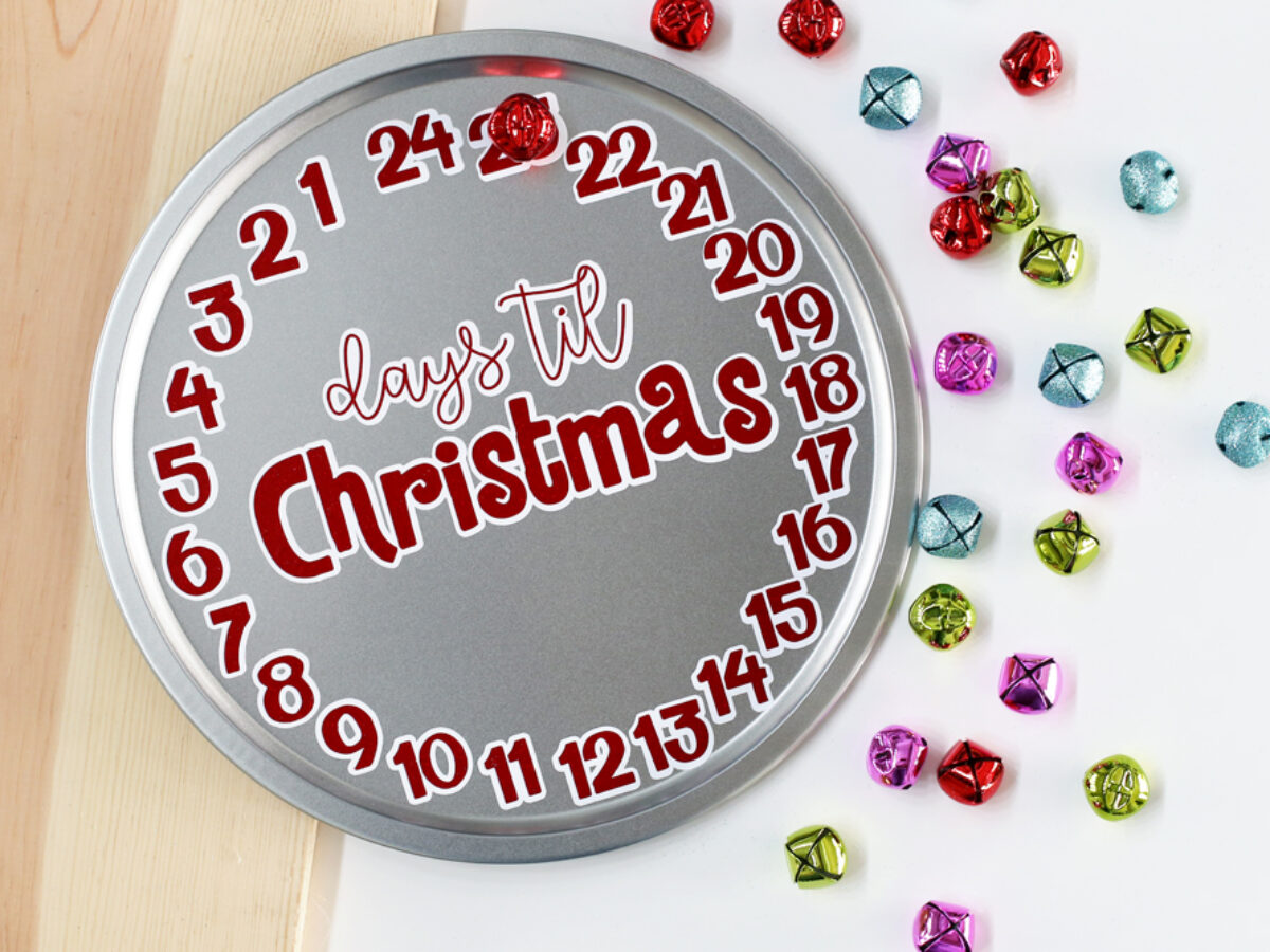 Glitter Candle Holly IRON-ON FABRIC TRANSFER Advent T-Shirt Sticker Christmas