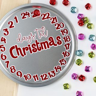 Days til christmas countdown vinyl craft project 2