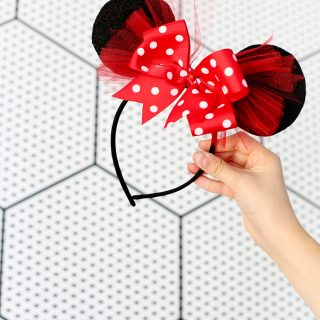 Diy minnie mouse ears bow headband how to make yourself tutorial