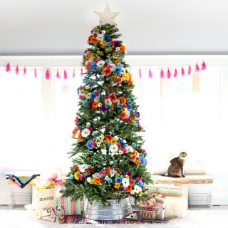 Floral diy christmas tree decor dream tree