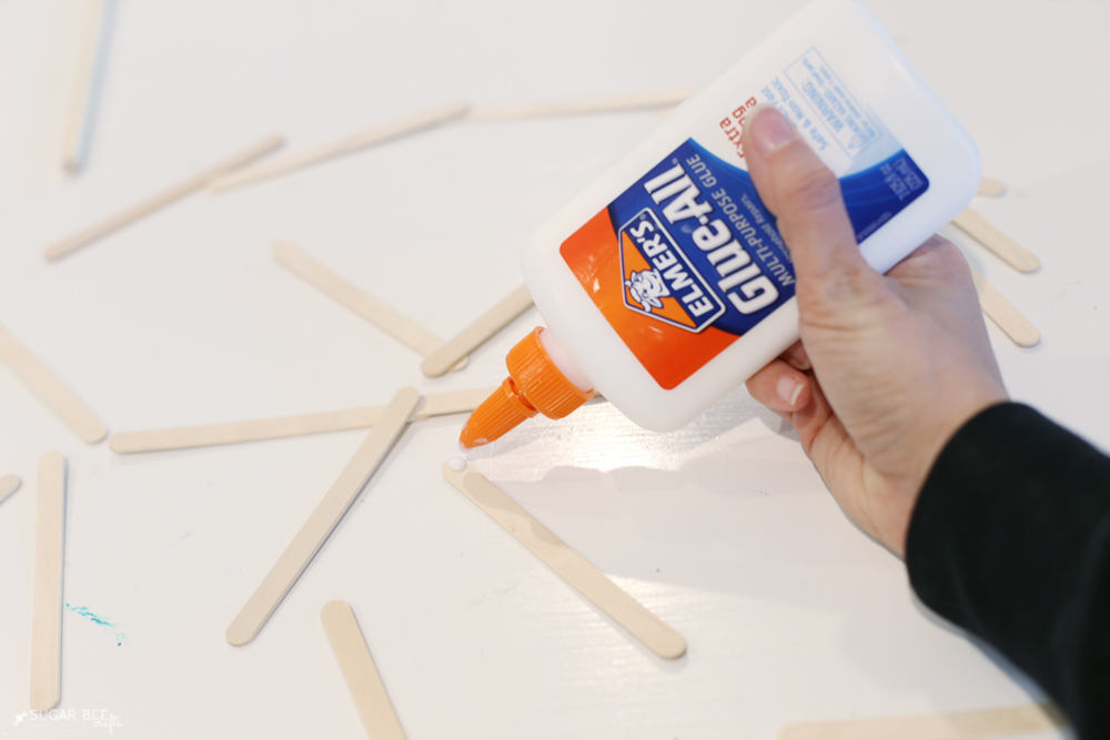 glue-craft-stick-snowflake