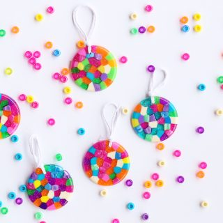 Melting beads ornament kids craft idea