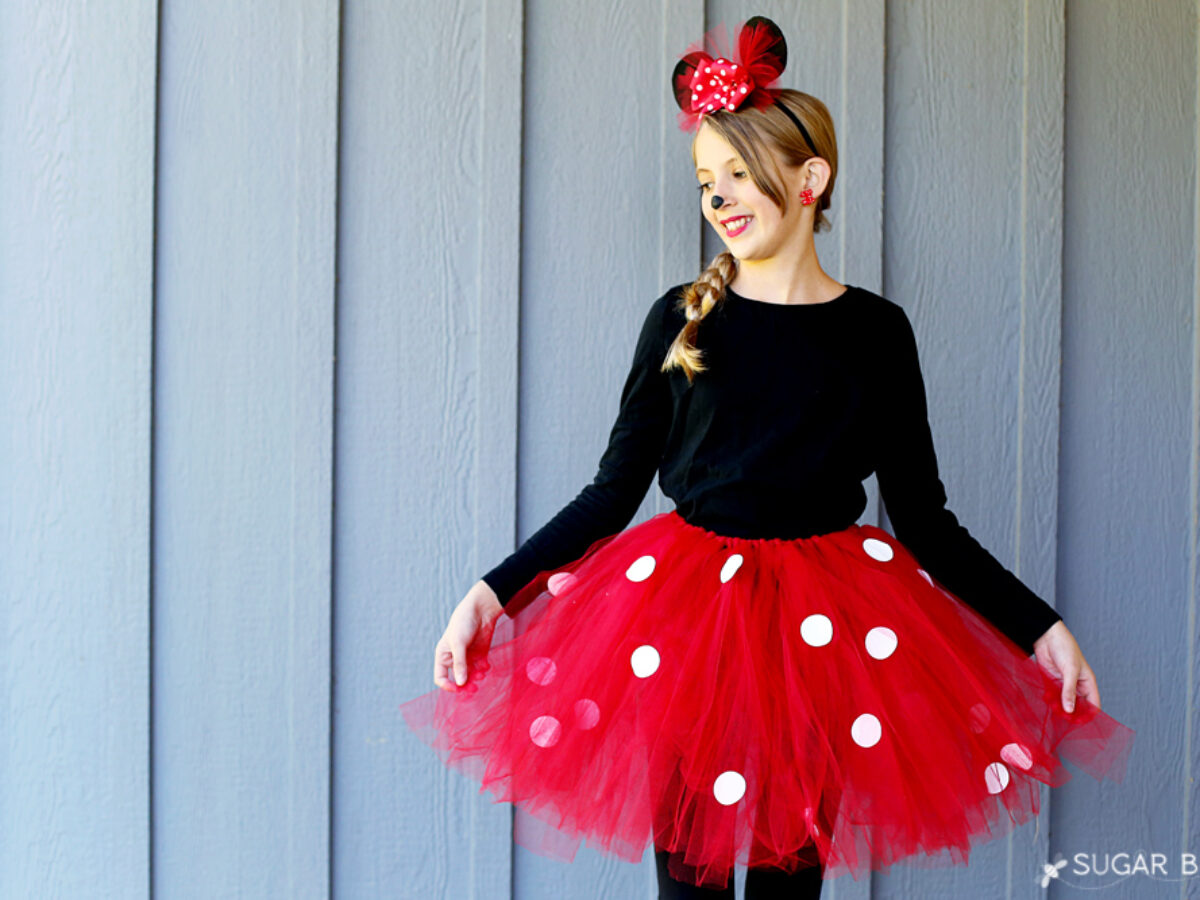 How To Make A Diy Minnie Mouse Costume With Tutu No Sew