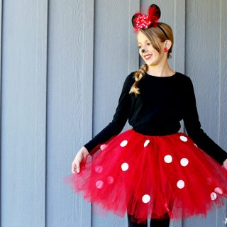 Minnie mouse diy easy tutu costume