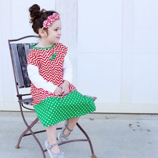 Chevron Holiday Tunic Dress