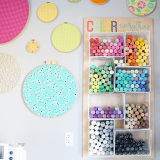 Craft paint organizer storage diy