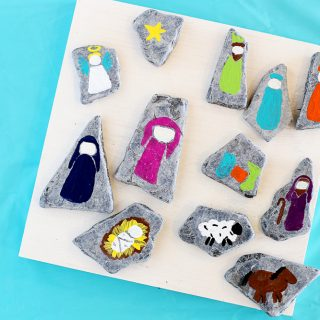 Diy nativity rocks