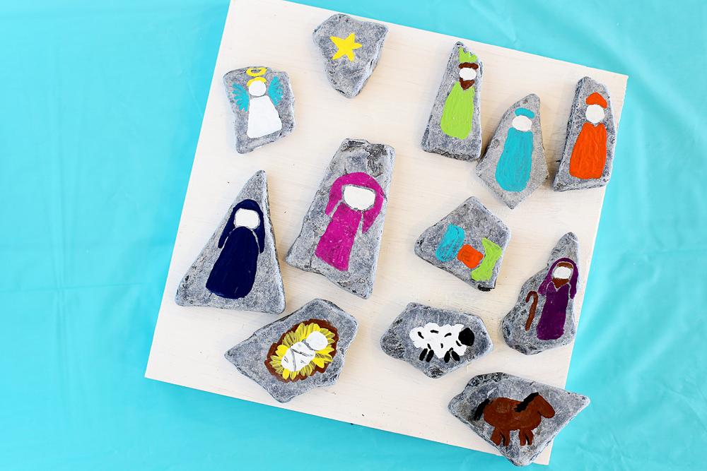 diy-nativity-rocks