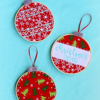 Embroidery hoop ornament craft