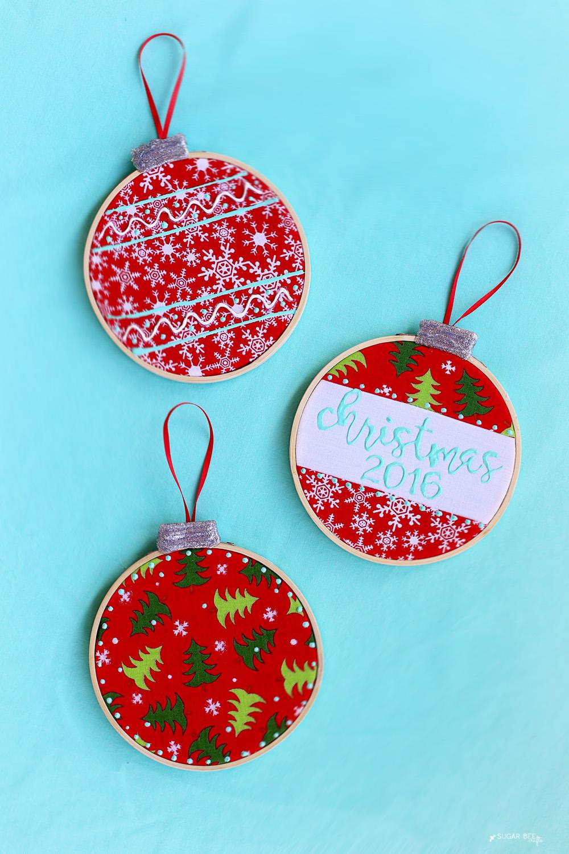 Embroidery Hoop Ornaments Sugar Bee Crafts