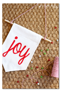 how to make a holiday joy banner