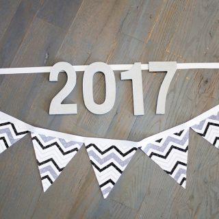 No sew new years banner