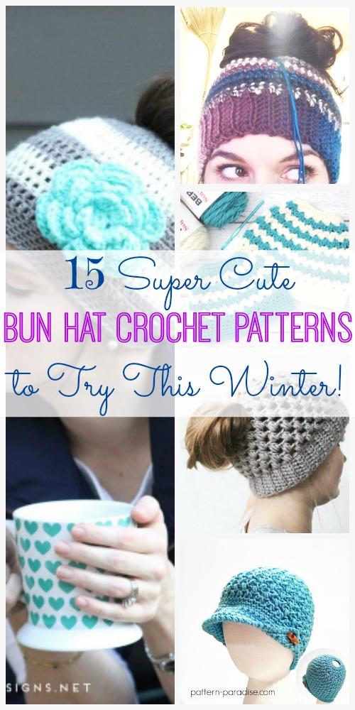 00b1c3939e6 Bun Hat Crochet Pattern - Sugar Bee Crafts